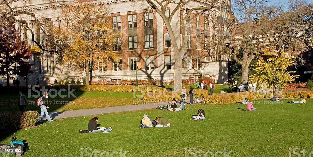 University Quad stock photo