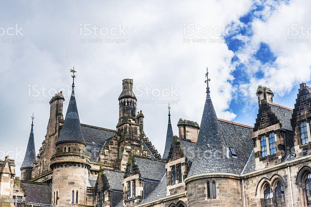 University roofscape stock photo