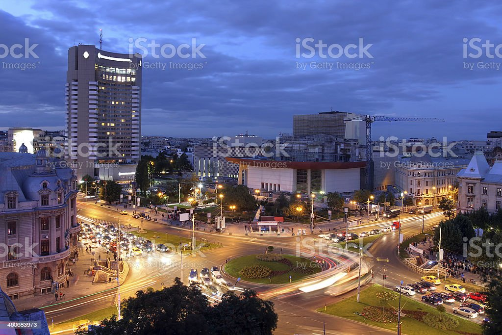University Square, Bucharest, Romania stock photo
