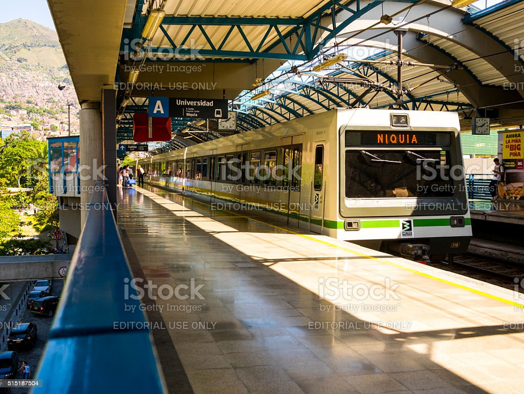 University Station of the Medellin Metro stock photo