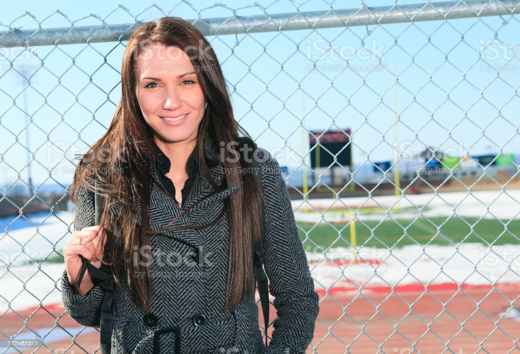 University Student - Football royalty-free stock photo
