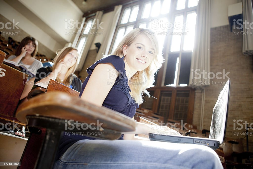 University Student in Class stock photo
