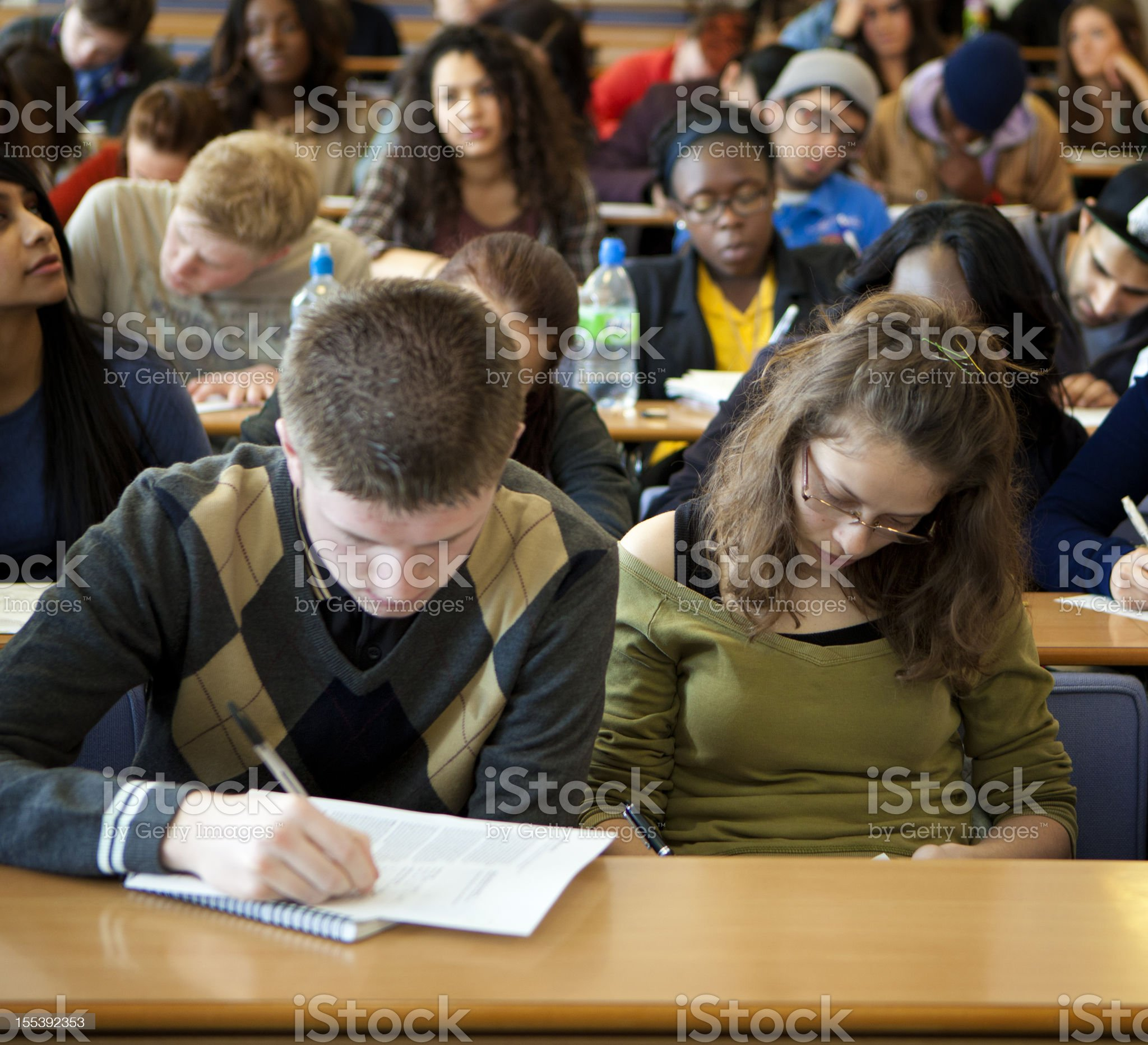 University student in lecture room. royalty-free stock photo