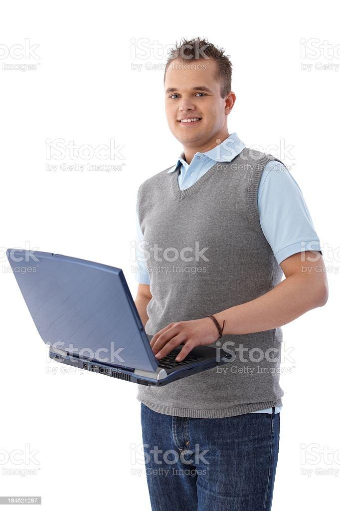 University student with laptop royalty-free stock photo