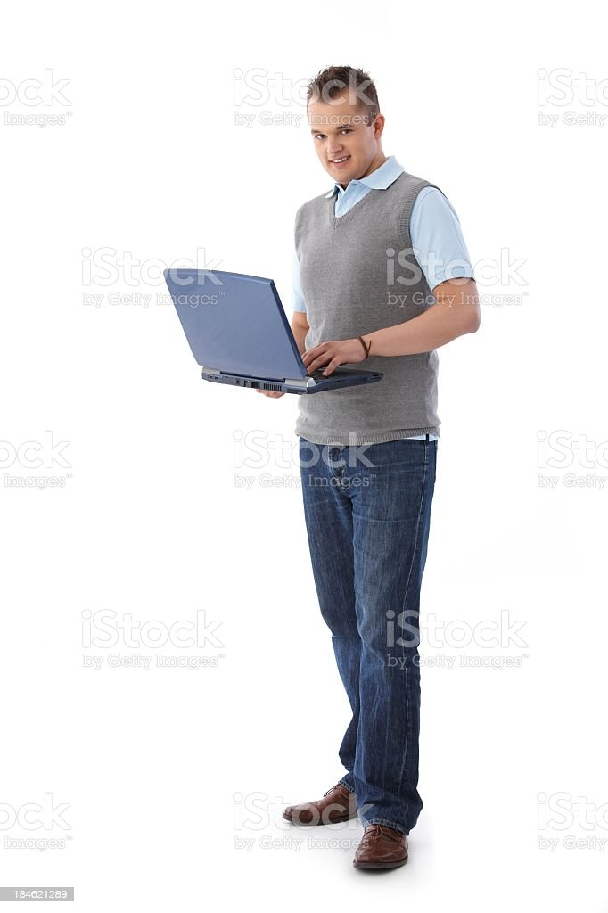University student with laptop royalty-free stock photo