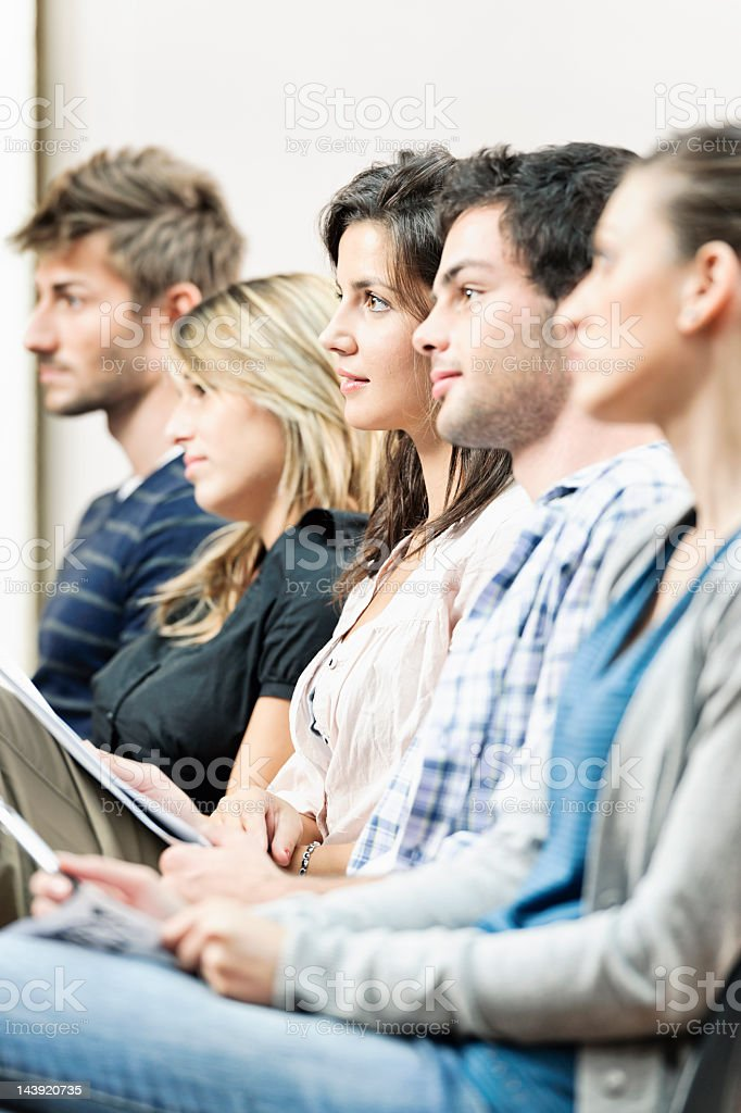 University Students in a Lecture royalty-free stock photo