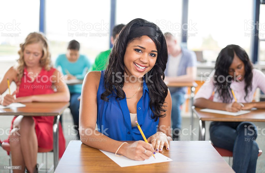University Students in the Classroom royalty-free stock photo
