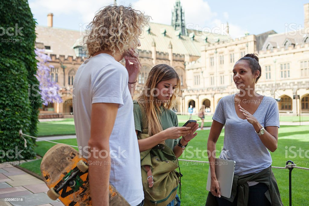 university students stock photo
