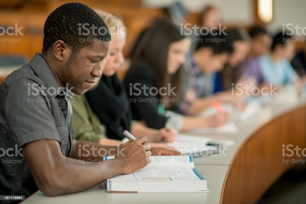 University Students Taking Notes stock photo