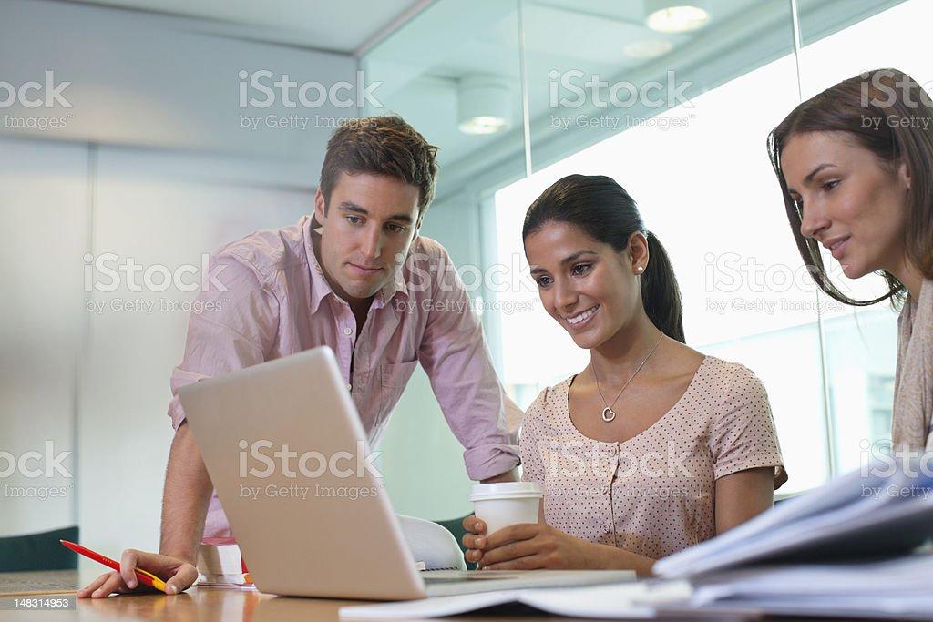 University students using laptop royalty-free stock photo