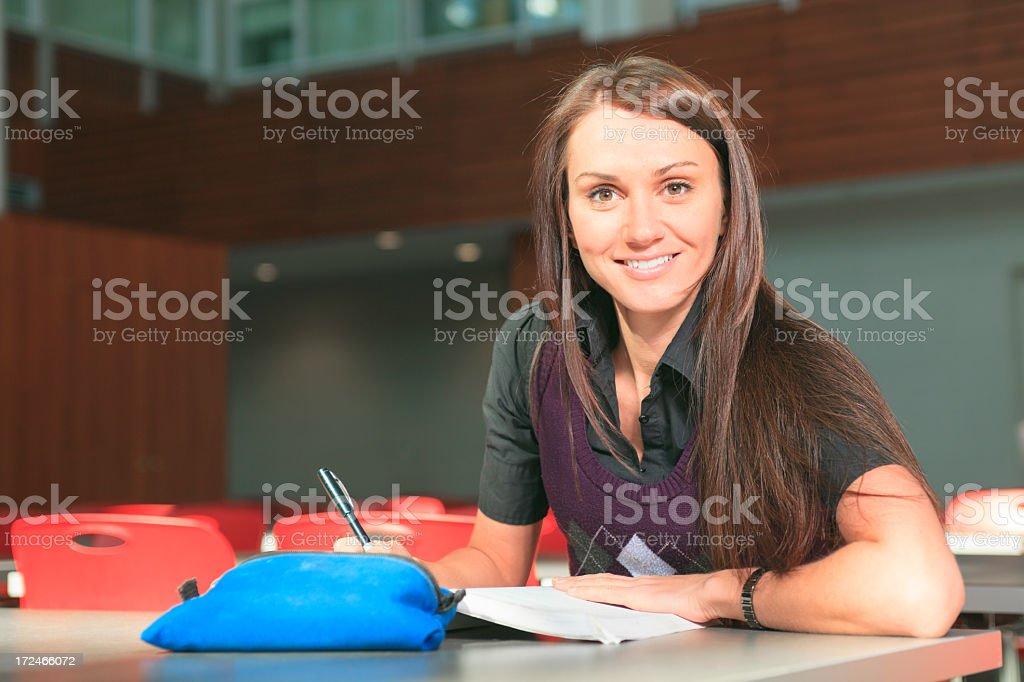 University - Woman Study royalty-free stock photo