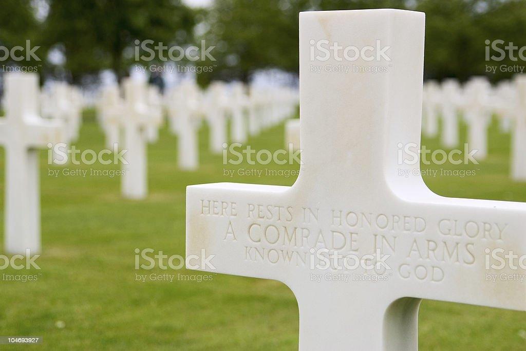 Unknonw Soldier - Graveyard royalty-free stock photo