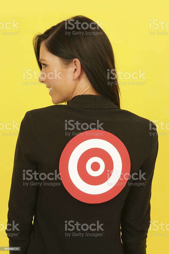 Unknowing Target royalty-free stock photo