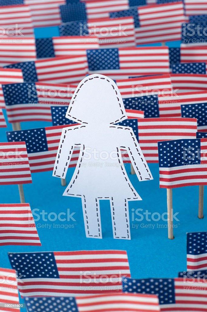 Unknown american woman stock photo