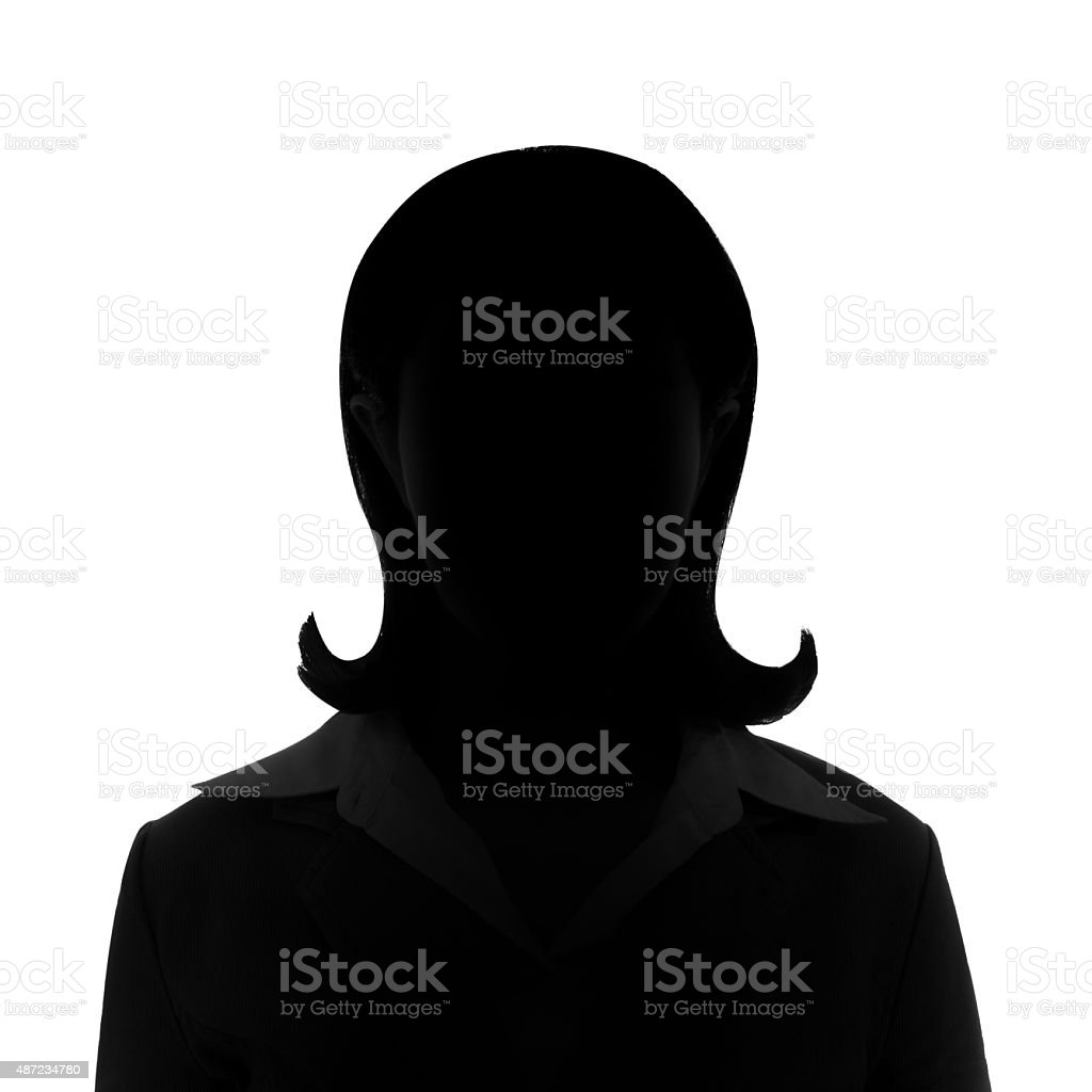 Unknown businesswoman silhouette. stock photo