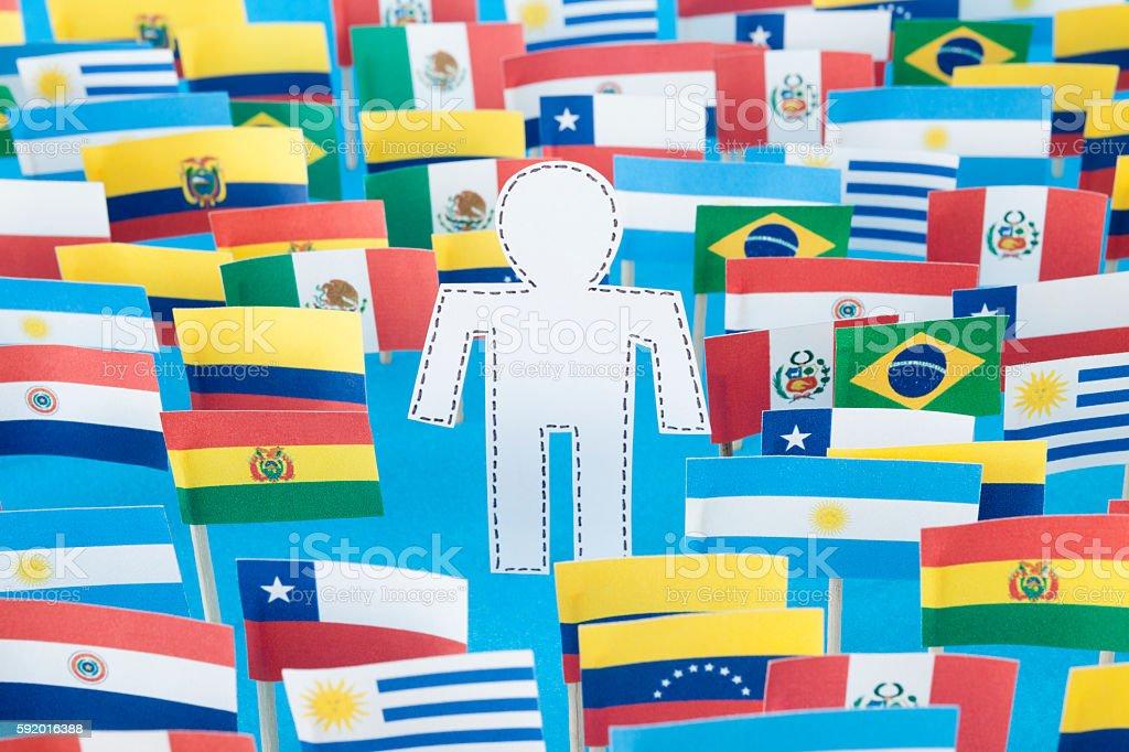 Unknown latin american man stock photo