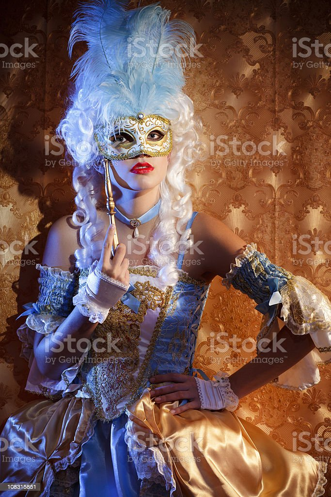 Unknown mysterious woman portrait royalty-free stock photo
