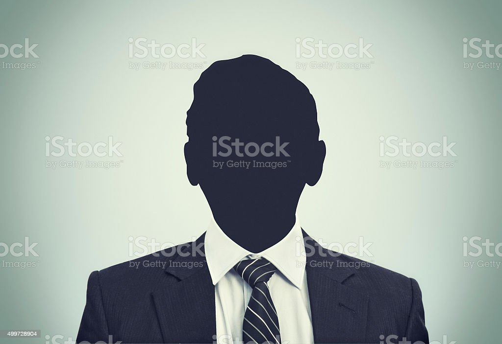 Unknown person silhouette stock photo