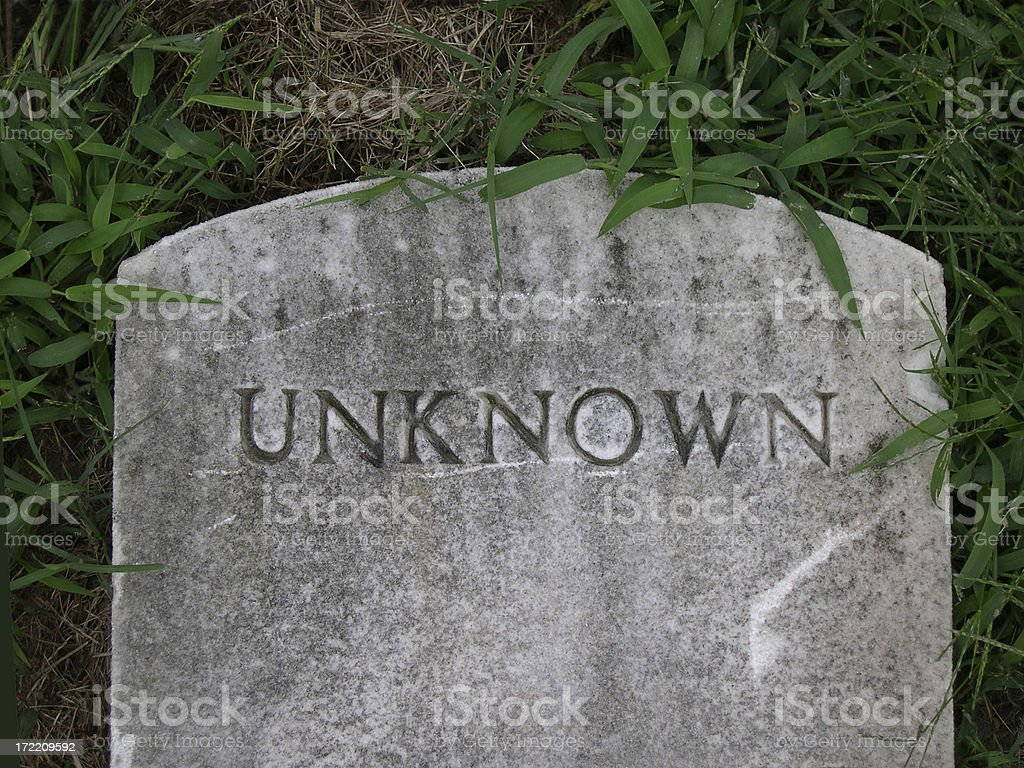 RIP Unknown stock photo