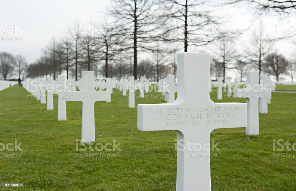 Unknown soldier gravestone Netherlands stock photo