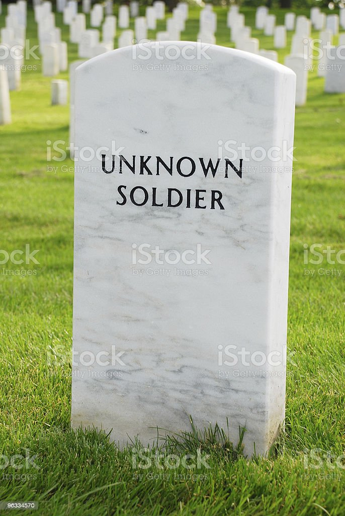 Unknown Soldier royalty-free stock photo