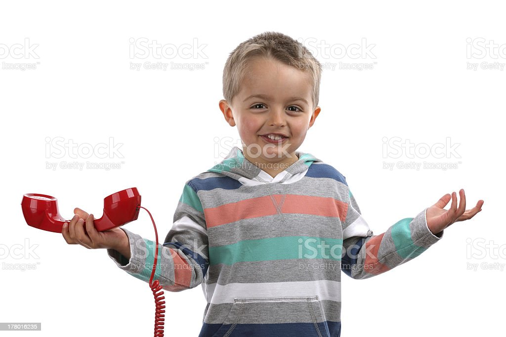 Unknown telephone call royalty-free stock photo