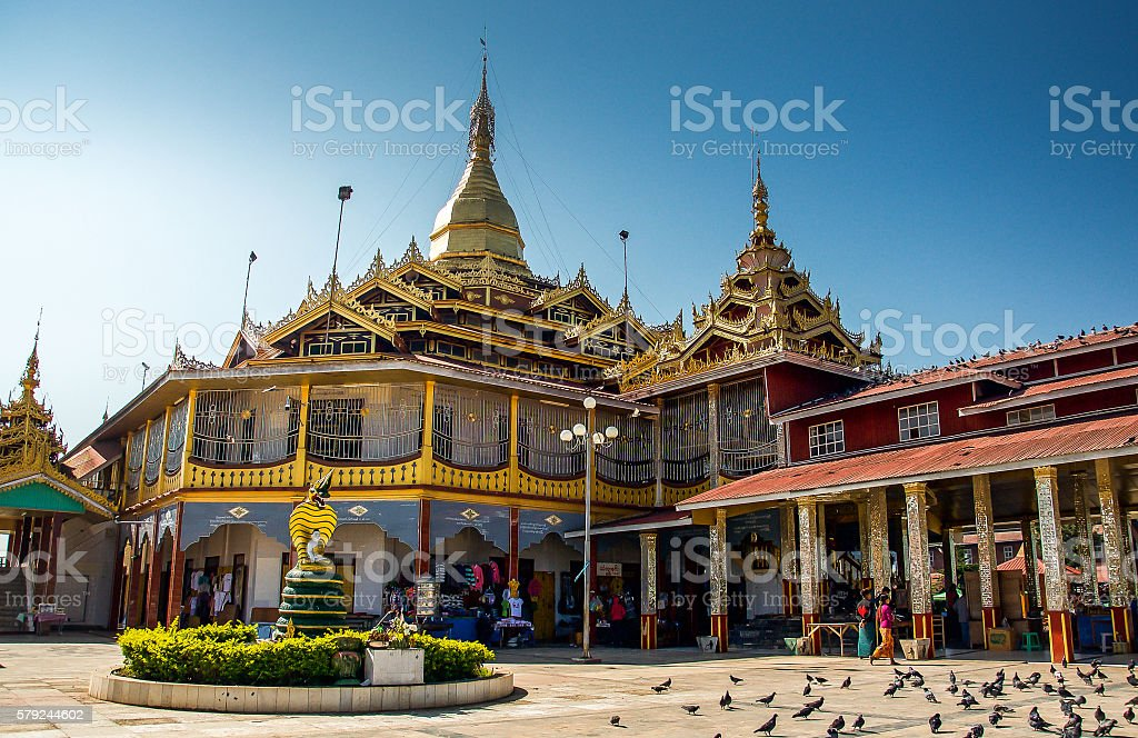 unknown temple in Inle lake area, Shan state, Myanmar stock photo