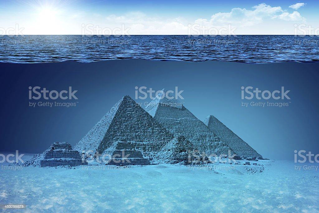 Unknown world of Pyramids royalty-free stock photo