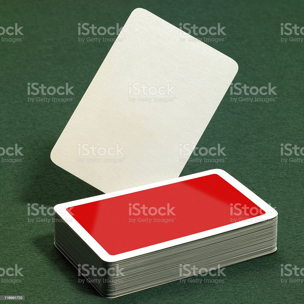 unlabeled playing cards royalty-free stock photo