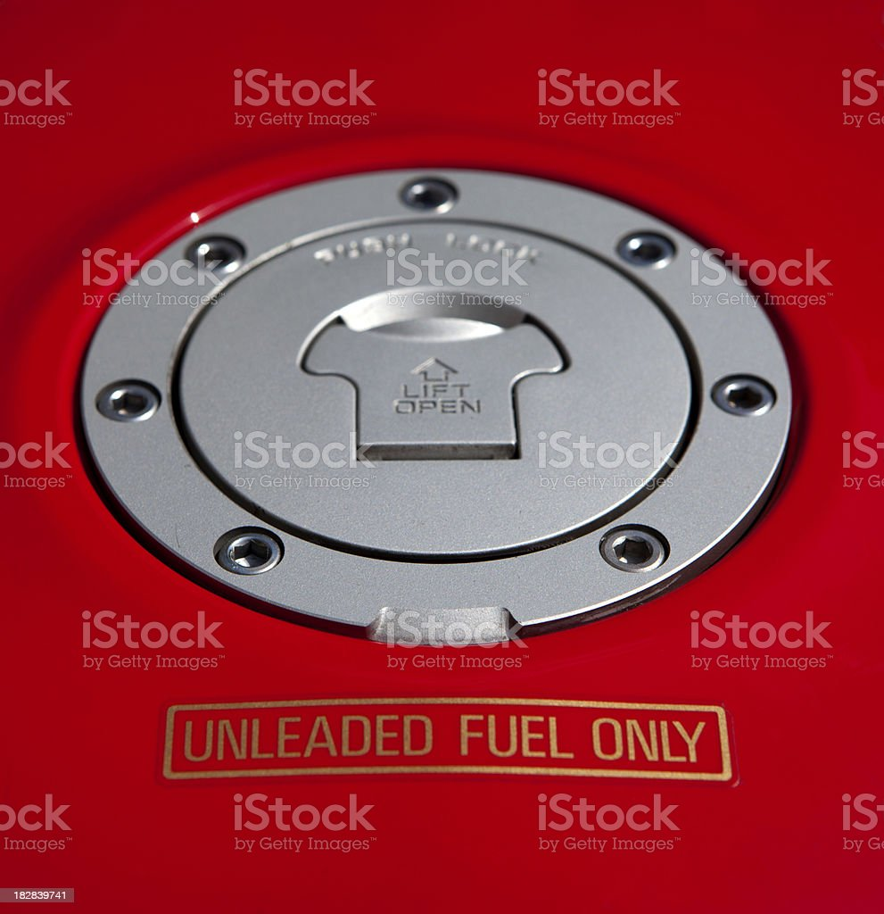 Unleaded fuel only royalty-free stock photo