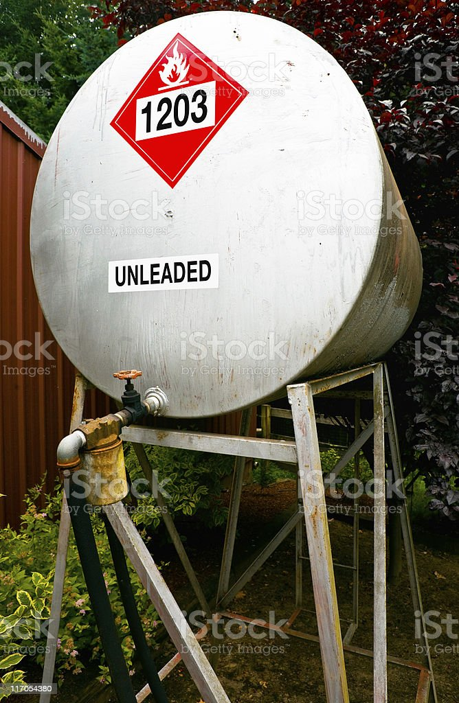 Unleaded Fuel Storage Tank royalty-free stock photo
