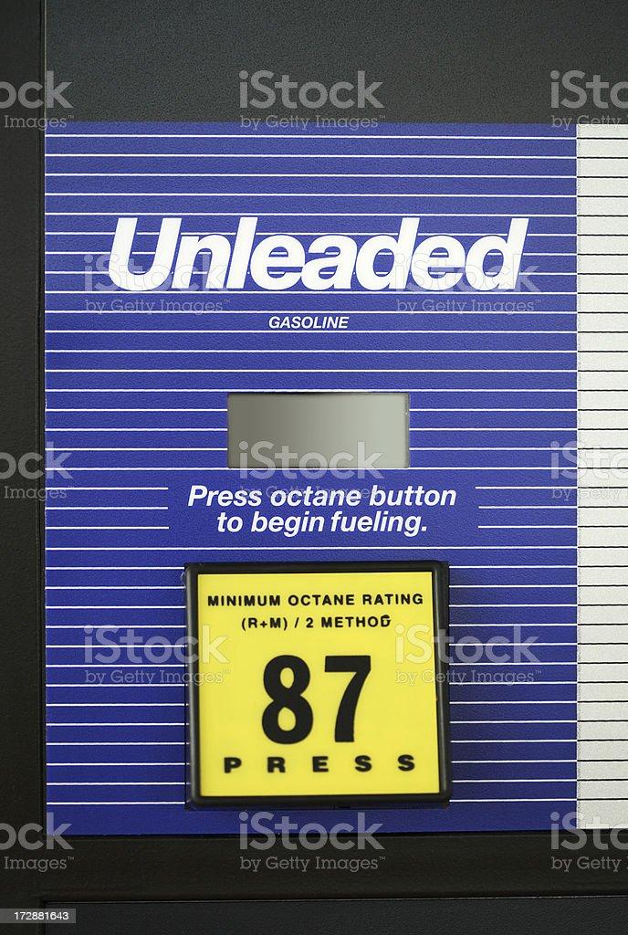 Unleaded Gas Pump closeup stock photo