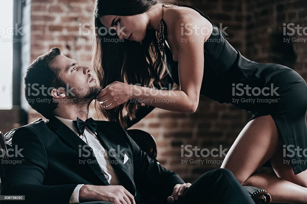 Unleashed desire. stock photo