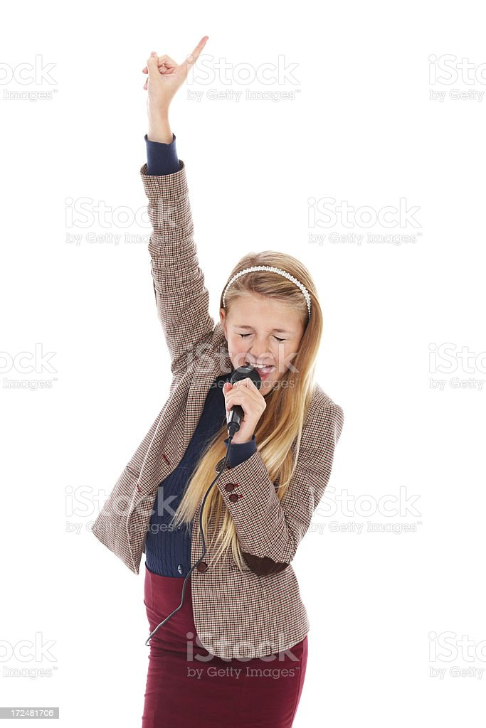 Unleashing her inner rock star royalty-free stock photo
