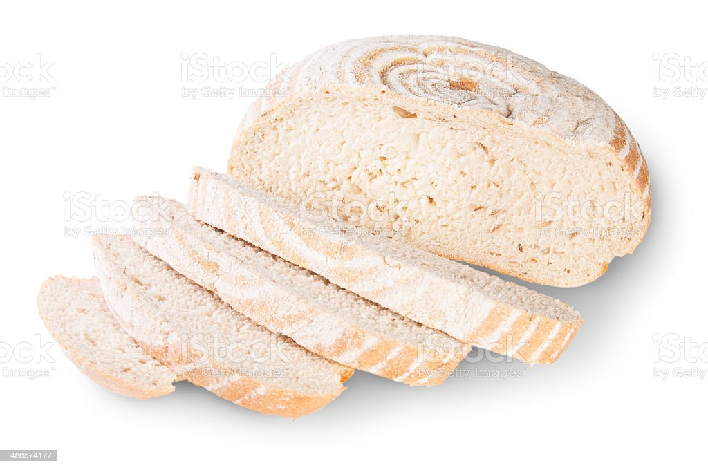 Unleavened Bread Sliced With Dill Seeds royalty-free stock photo