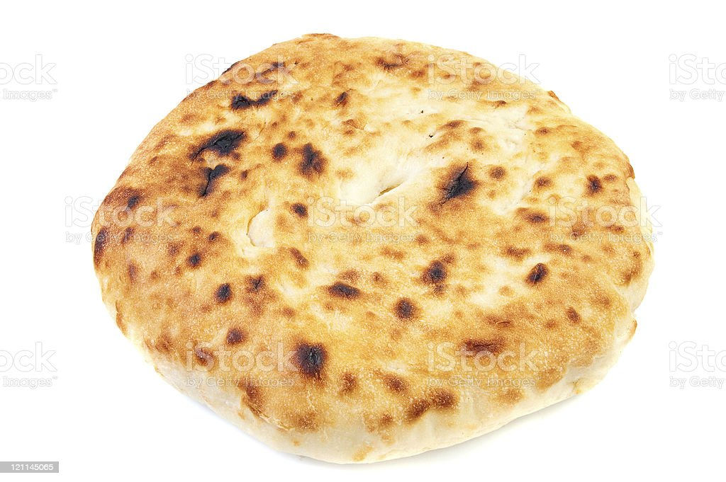 Unleavened wheat cake. royalty-free stock photo