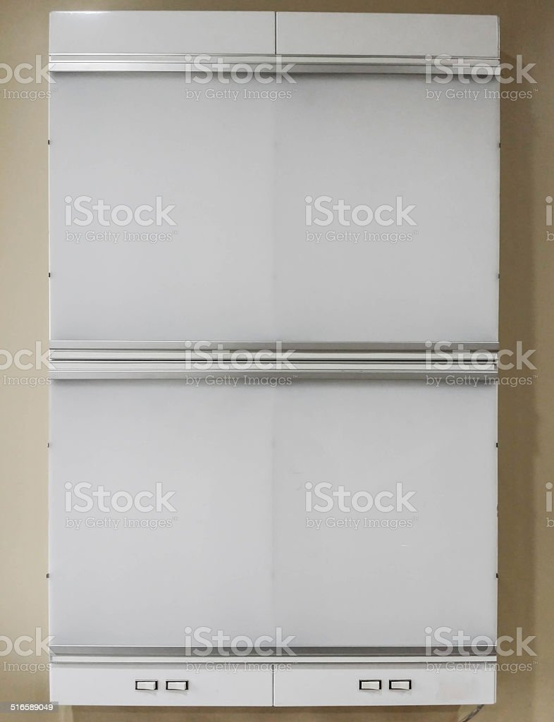 Unlit Xray Lightbox stock photo