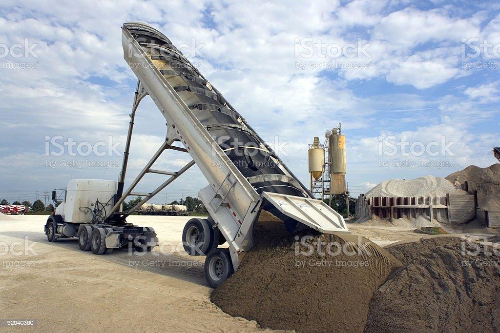 Unloading Truck stock photo
