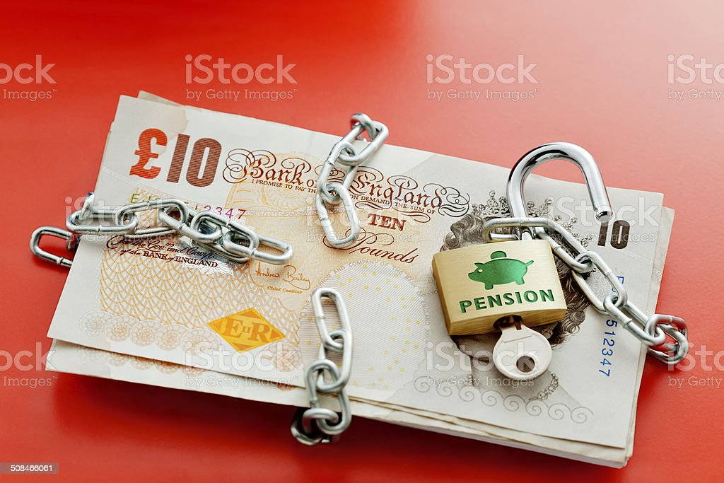 Unlock Your Pension stock photo