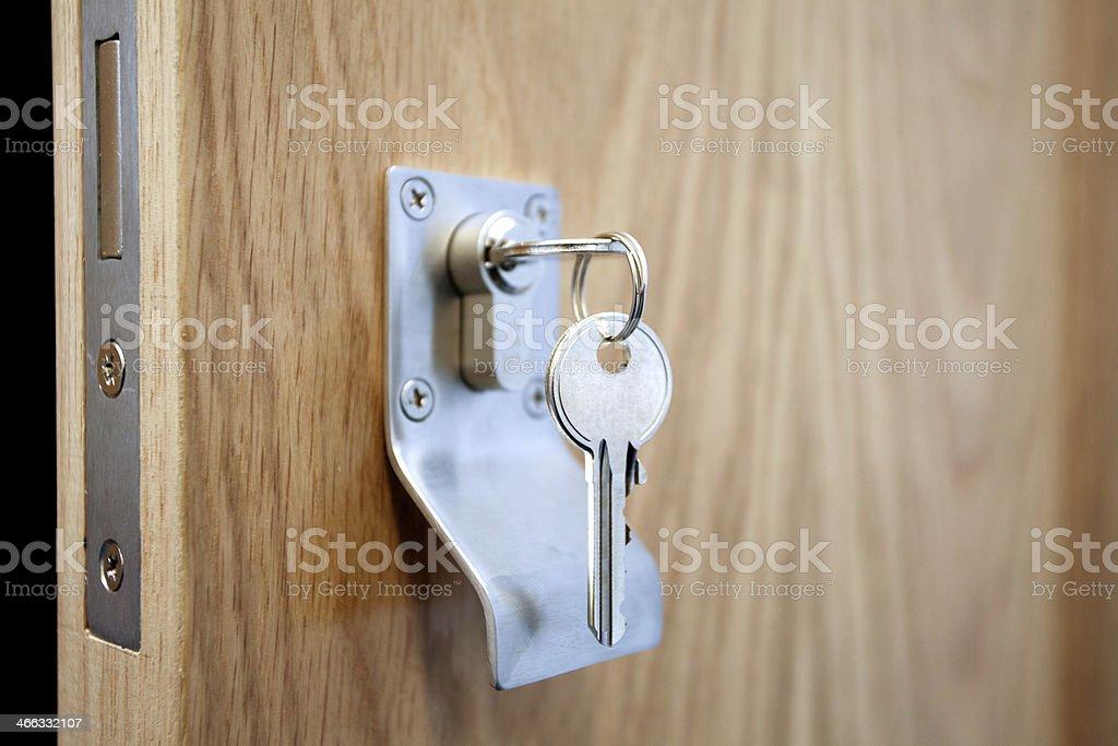 Unlocked Door stock photo