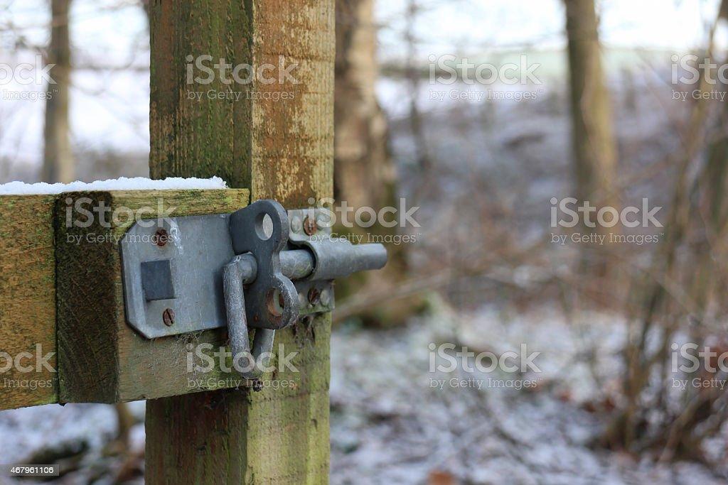 unlocked gate stock photo