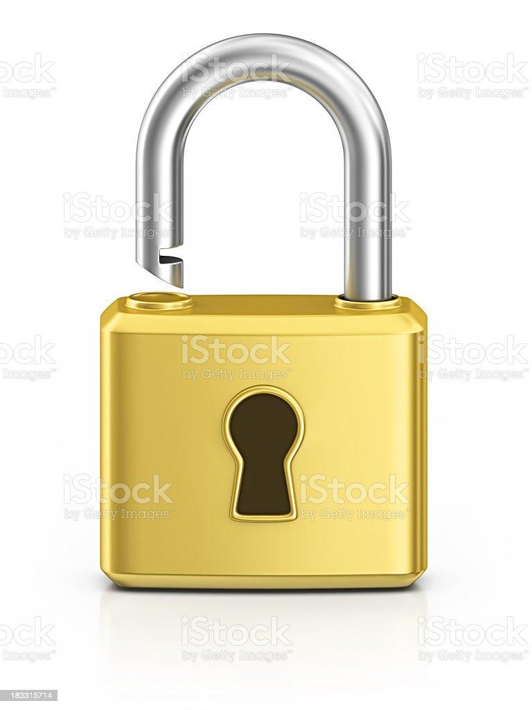 unlocked padlock royalty-free stock photo