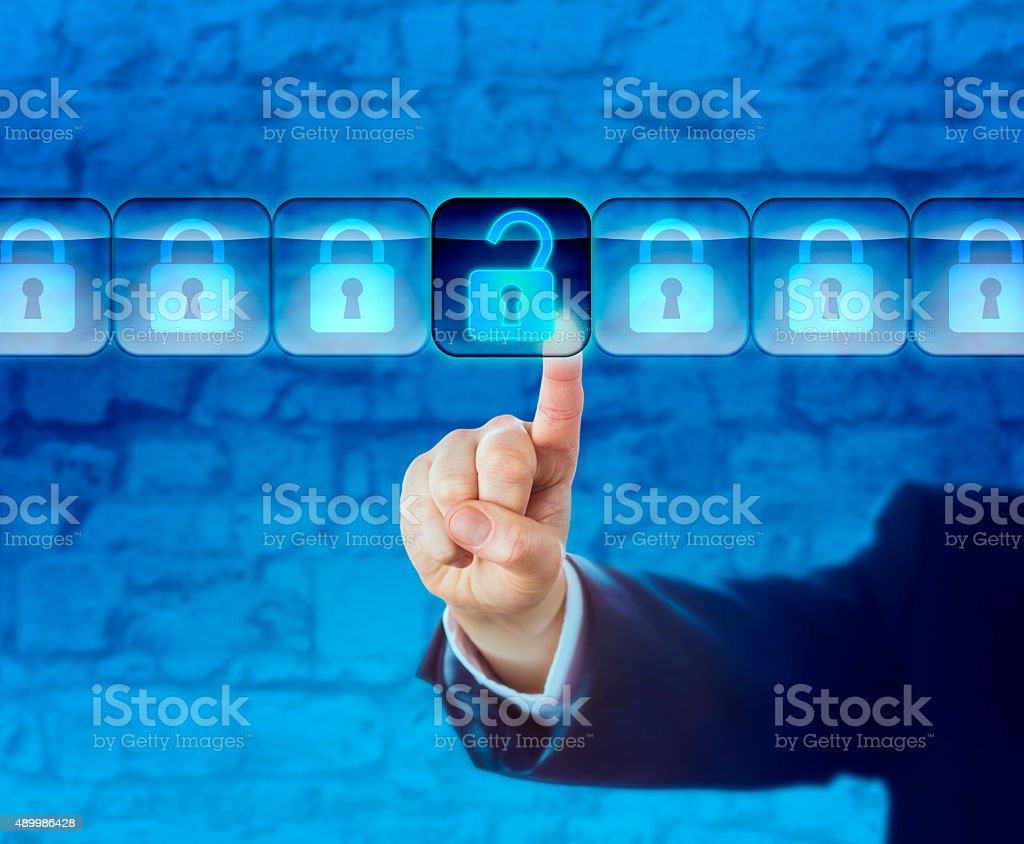 Unlocking An Information Packet In A Data Stream stock photo