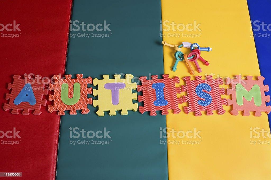 Unlocking Autism royalty-free stock photo