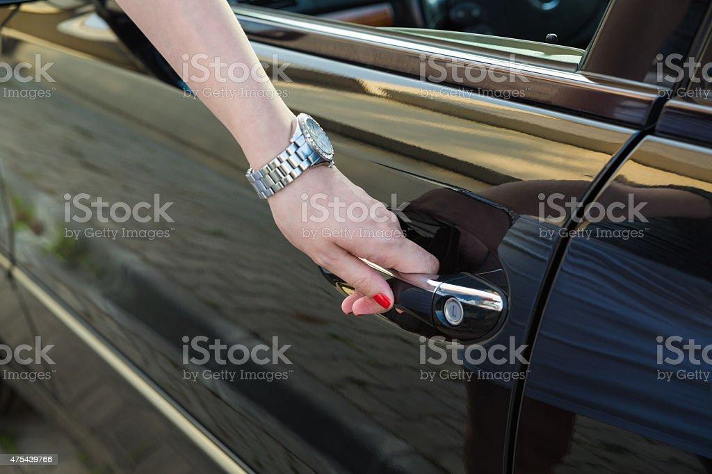 Unlocking Car stock photo