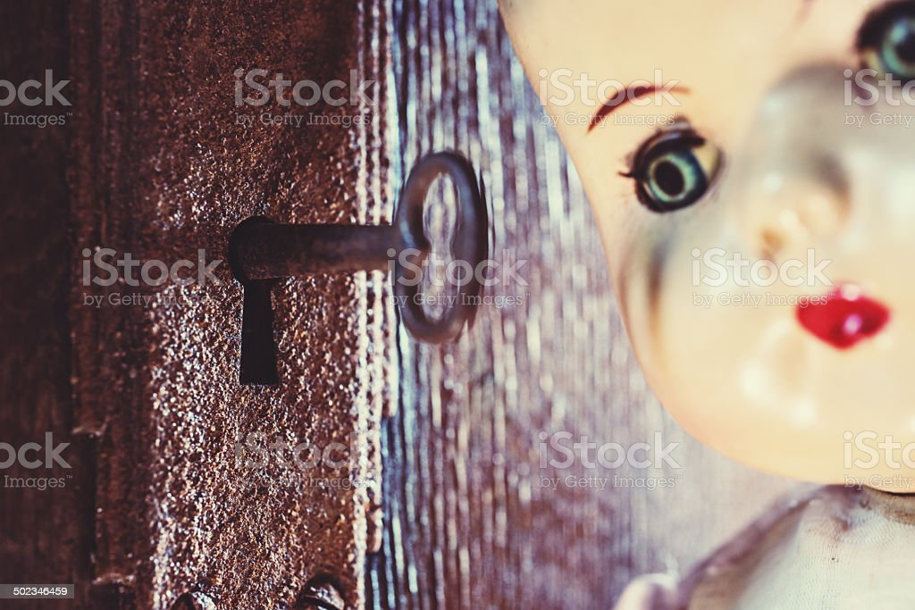 Unlocking Her Past stock photo