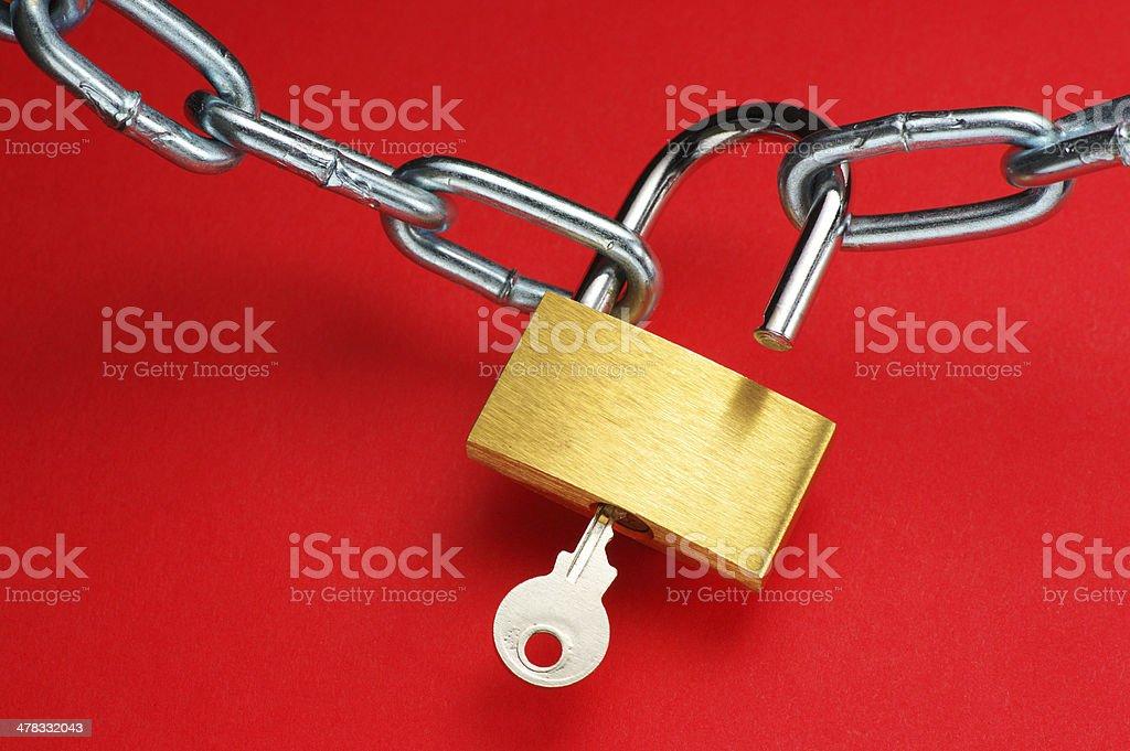Unlocking padlock. royalty-free stock photo