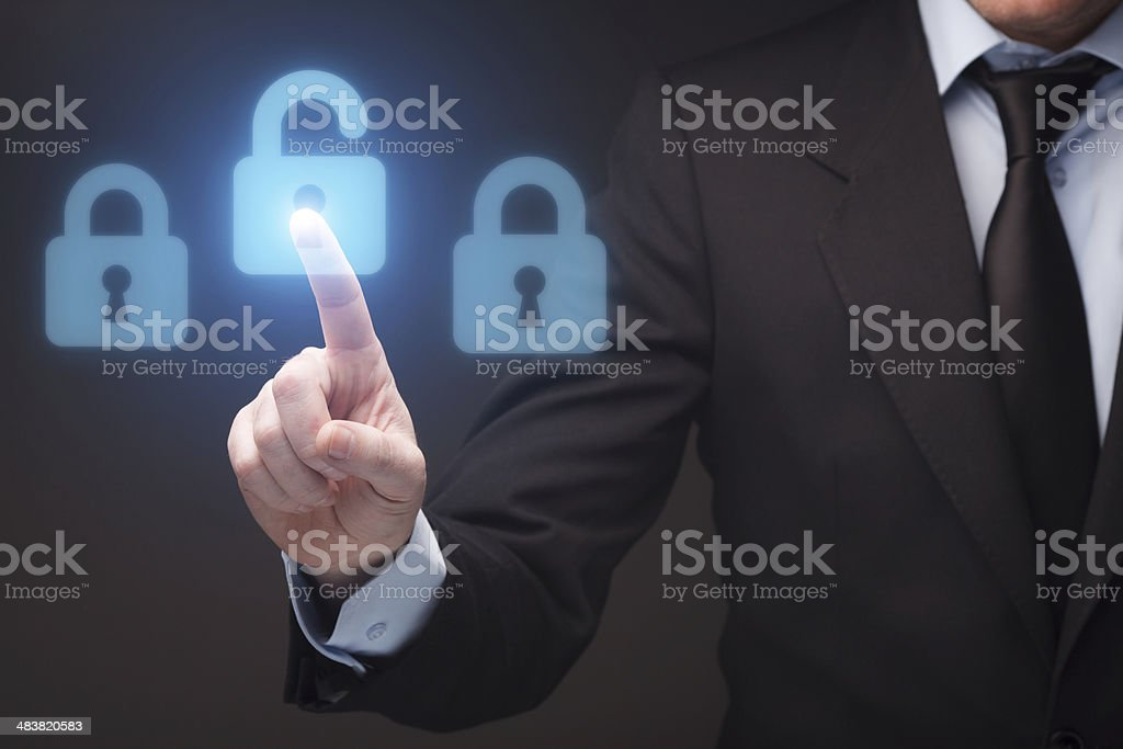 Unlocking stock photo