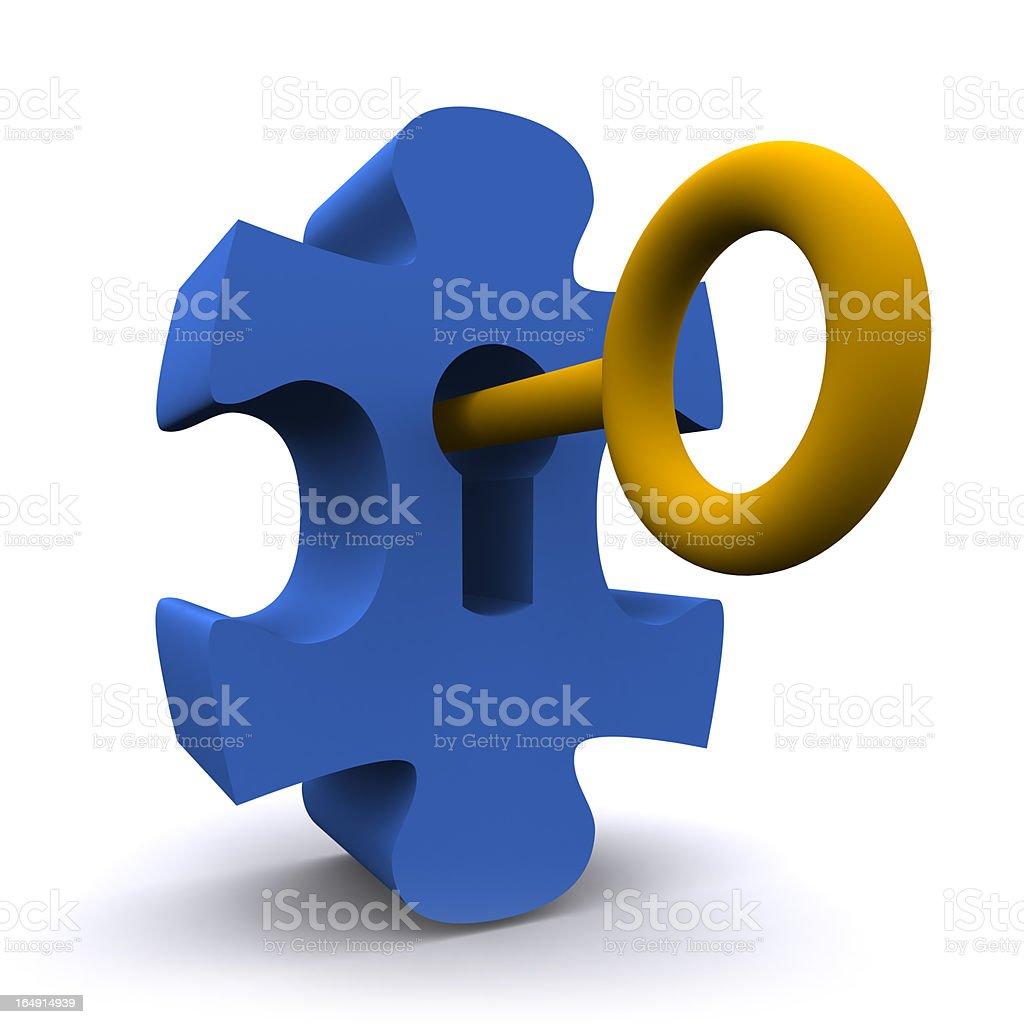 Unlocking The Puzzle royalty-free stock photo
