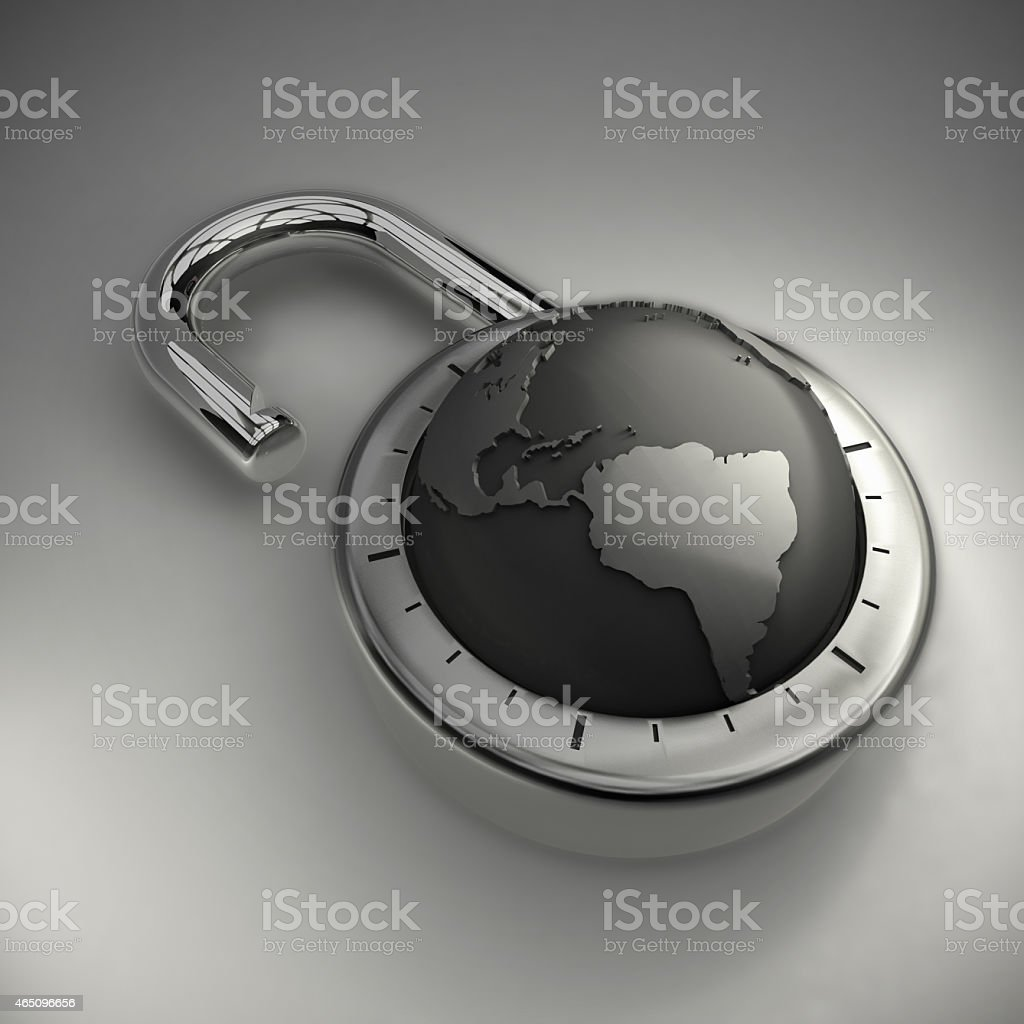 Unlocking your World stock photo